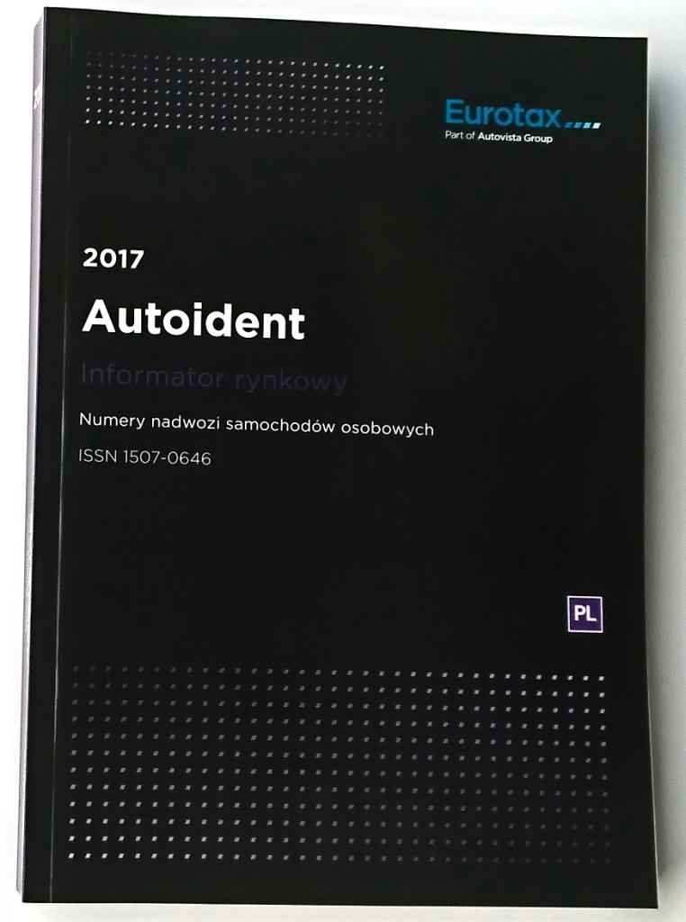 AutoIdent 2017 - nr VIN pojazdów strona tytułowa nowego wydania