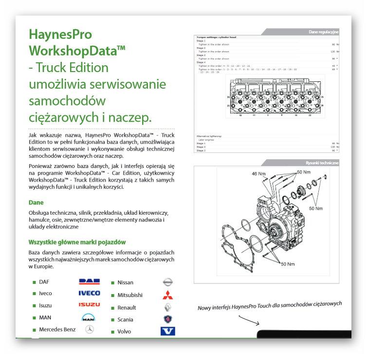haynespro truck naprawa ciężarowych